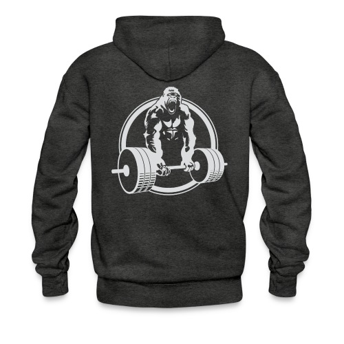 CLASSIC Gorilla Lifting Fitness Beast Cross Design - Men's Hoodie