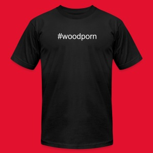 Mens #woodporn t-shirt - Men's T-Shirt by American Apparel