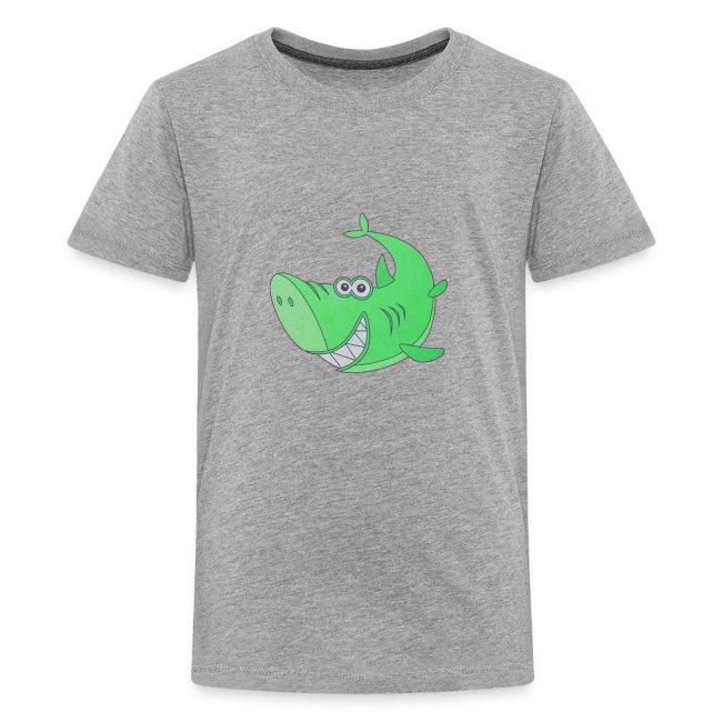 Big Green Cartoon Shark
