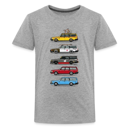 Stack of  200 Series 245 Wagons - Kids' Premium T-Shirt