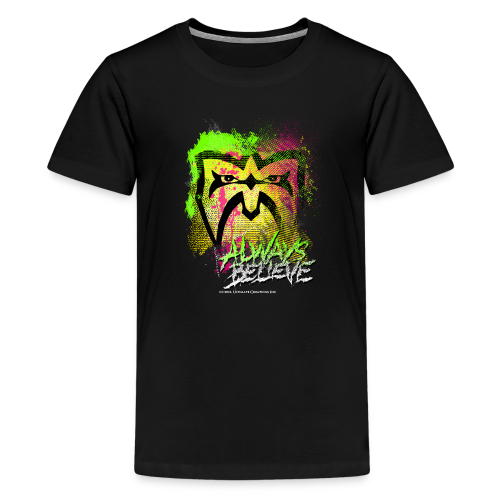 Ultimate Warrior Always Believe Paint Explosion Kids T Shirt - Kids' Premium T-Shirt