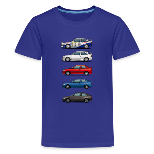 Stack of Ford Escort Mk5 Coupes - Kids' Premium T-Shirt