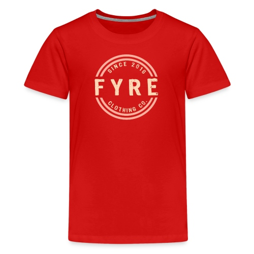 Kids 'Retro Circle' Premium T-Shirt - Red - Kids' Premium T-Shirt