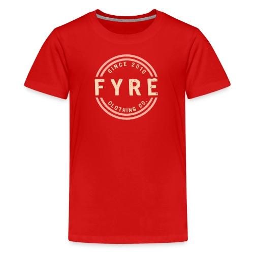 Kids 'Retro Circle' Premium T-Shirt - Red - Kids' Premium T-Shirt