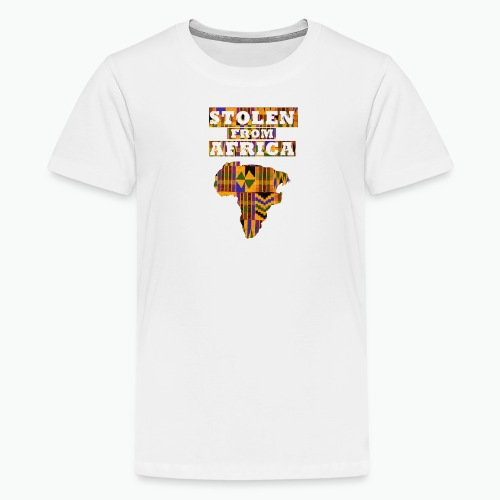 STOLEN FROM AFRICA®  Kente  - Kids' Premium T-Shirt