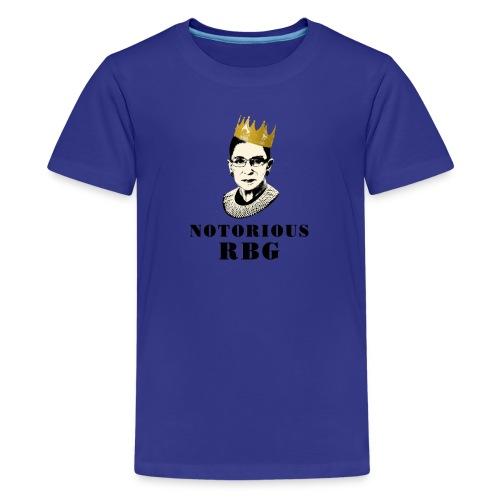 Kid's Notorious RBG shirt - Kids' Premium T-Shirt