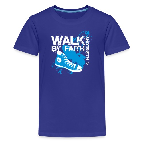 4 H.I.S.Glory Walk By Faith Kids T-Shirt - Kids' Premium T-Shirt
