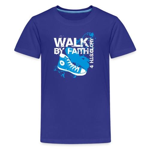4 H.I.S.Glory Walk By Faith Kids T-Shirt - Kids' Premium T-Shirt