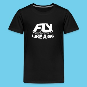 Fly like a G6- Kid's American Apparel Tee- Design Front- Rear mini logo - Kids' Premium T-Shirt