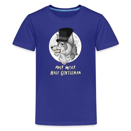 Half Wolf Half Gentleman - Kids' T-Shirt by American Apparel - Kids' Premium T-Shirt