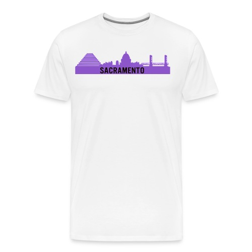 Purple Sacramento Logo - Men's Premium T-Shirt