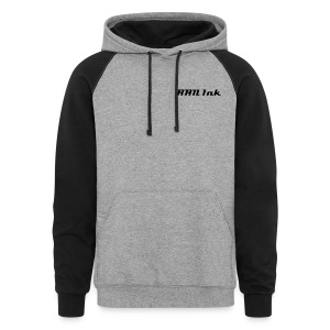 RAN Ink Black & Grey Hoodie - Colorblock Hoodie