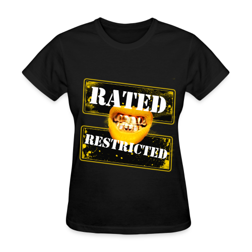 GOLD Rated Restricted in BLACK - Women's T-Shirt