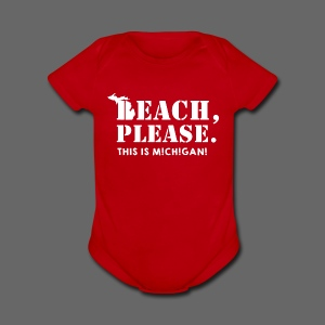 Beach, please. This is Michigan. - Short Sleeve Baby Bodysuit