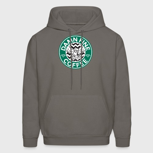 Twin Peaks Starbucks Parody Damn Fine Cup of Coffee - Men's Hoodie