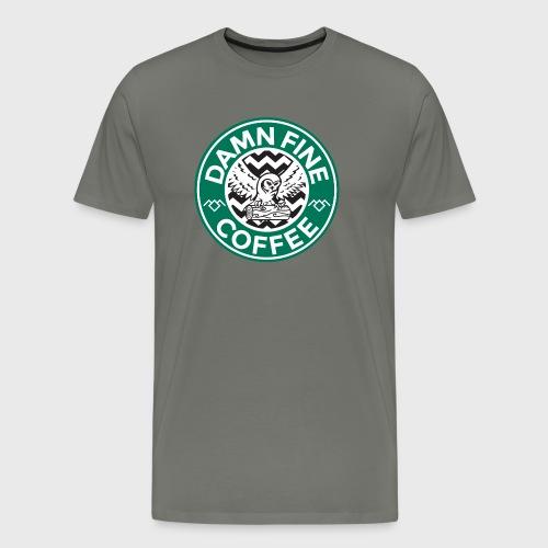 Twin Peaks Starbucks Parody Damn Fine Cup of Coffee - Men's Premium T-Shirt
