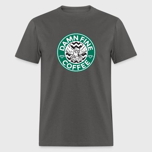 Twin Peaks Starbucks Parody Damn Fine Cup of Coffee - Men's T-Shirt