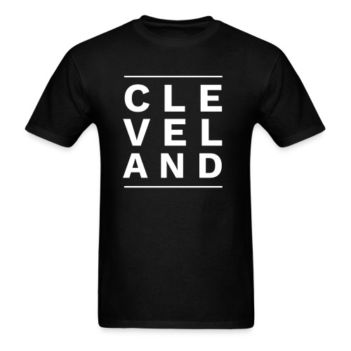 CLEVELAND BETWEEN THE LINES - Men's T-Shirt