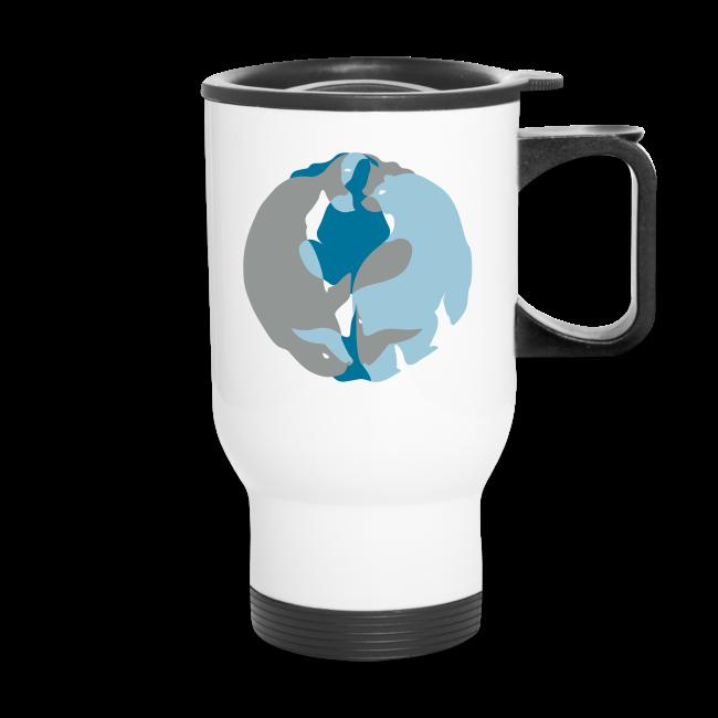 Spirit of the North Travel Mugs Personalized Arctic Art Mugs