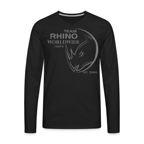 Org Black & Gray Men's Long Sleeve T-Shirt - Men's Premium Long Sleeve T-Shirt
