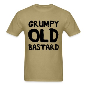 Grumpy Old Bastard Men's Khaki T-Shirt - Men's T-Shirt