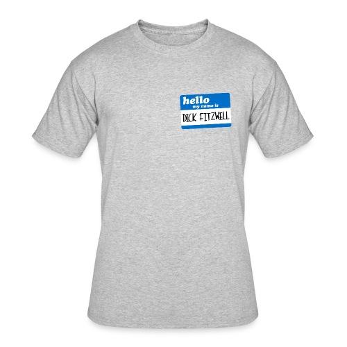 Dick Fitzwell Retro Blue - Men's 50/50 T-Shirt