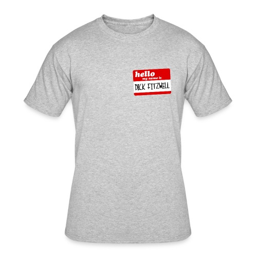 Dick Fitzwell Retro Red - Men's 50/50 T-Shirt