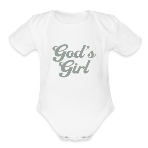 God's Girl   - Organic Short Sleeve Baby Bodysuit