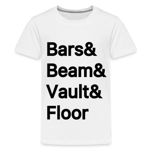 Womens Artistic Gymnastics - Kids' Premium T-Shirt