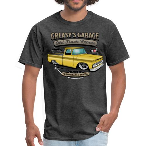 Greasy's Garage PREMIUM ART Tee YELLOW - Men's T-Shirt