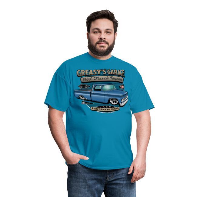 Greasy's Garage PREMIUM ART Tee BLUE