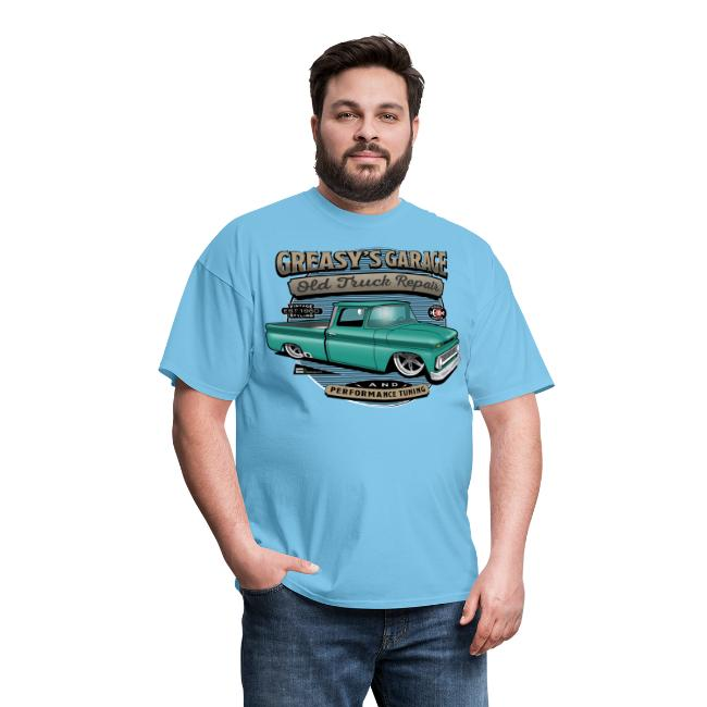 Greasy's Garage PREMIUM ART Tee GREEN
