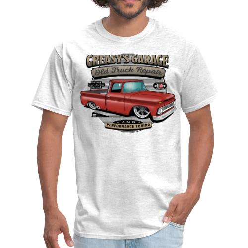 Greasy's Garage PREMIUM ART Tee RED - Men's T-Shirt