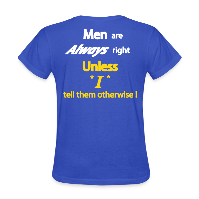 Women's Standard T- Men right- Back - Women's T-Shirt