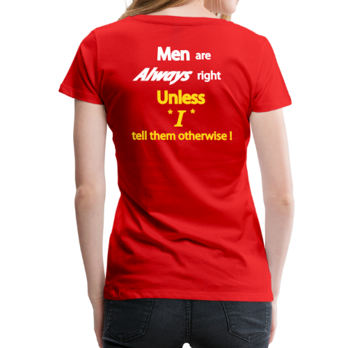 Women's Premium T- Men right- Back - Women's Premium T-Shirt