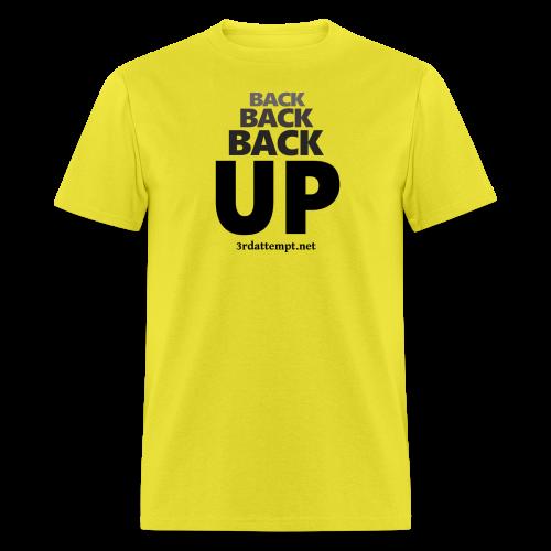 3Back Up (Training - Yellow) - Men's T-Shirt