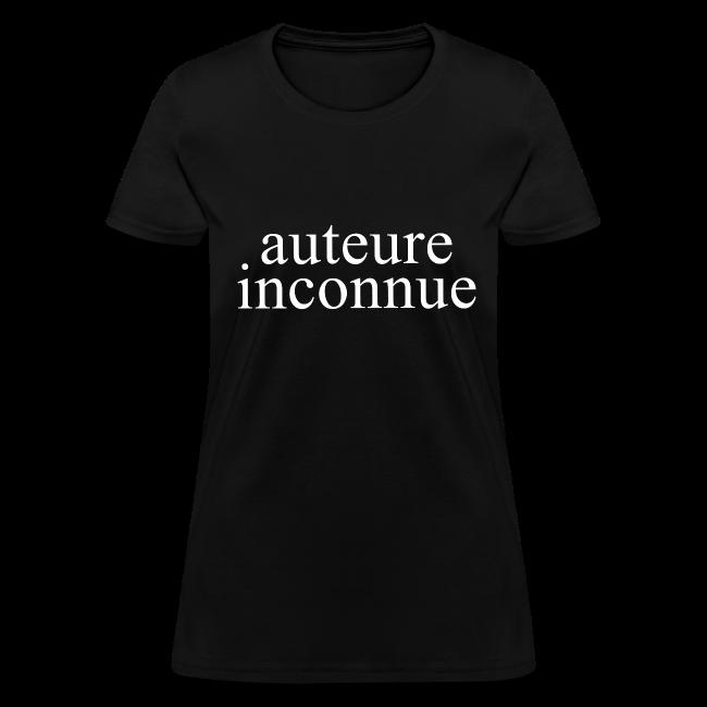 T-shirt «auteure inconnue»