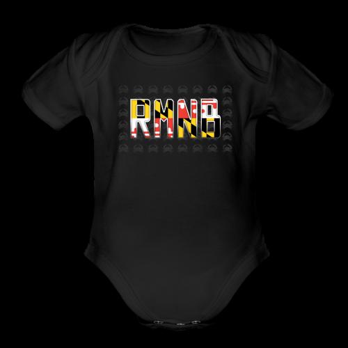 RMNB Maryland Pride shortsleeve onesie - Organic Short Sleeve Baby Bodysuit