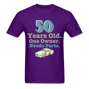 50 Years Old, One Owner, Needs Parts Men's Purple T-Shirt - Men's T-Shirt