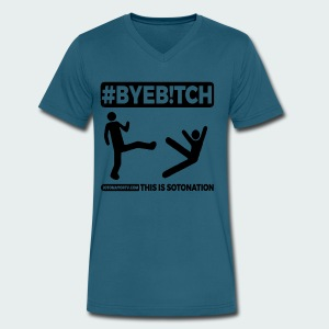 #ByeB!tch - Men's V-Neck T-Shirt by Canvas