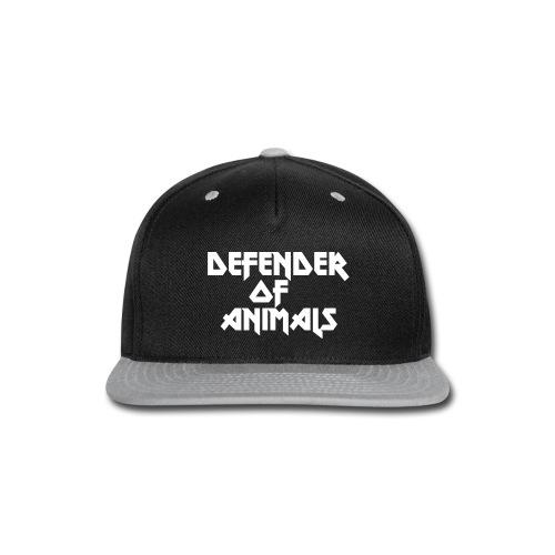 Defender of Animals Cap - Snap-back Baseball Cap