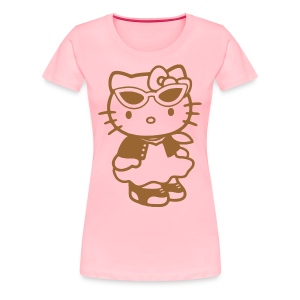 Cute Lovable Cat T-Shirts - Women's Premium T-Shirt