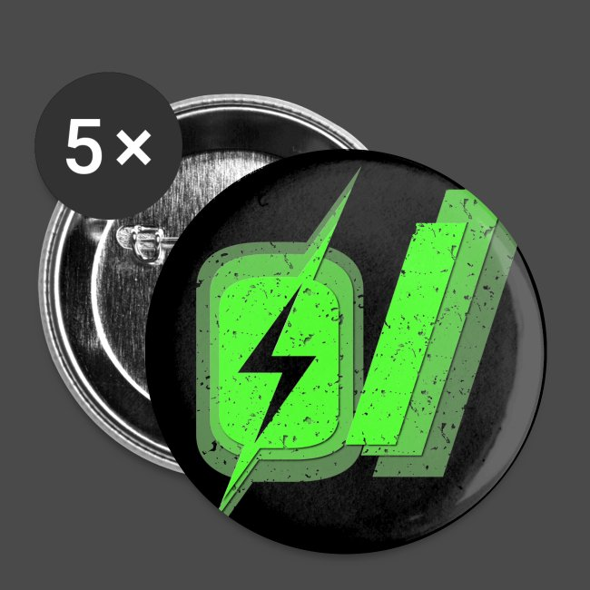 O Slash Small Buttons (5 Pack)