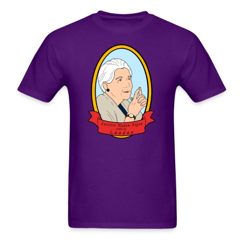Portrait of Suzette Haden Elgin (Masculine) - Men's T-Shirt