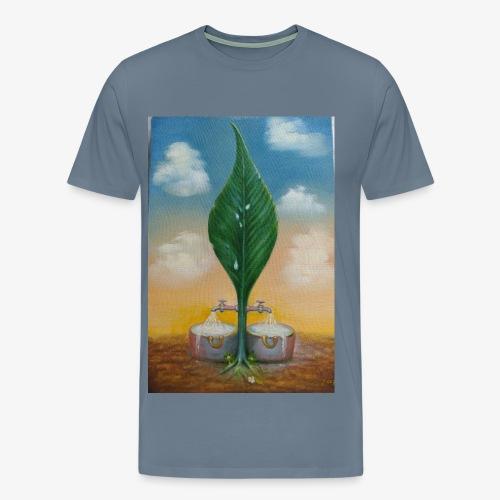 a folha e a agua - Men's Premium T-Shirt