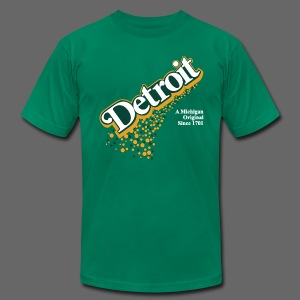 Detroit Ginger Ale - Men's T-Shirt by American Apparel