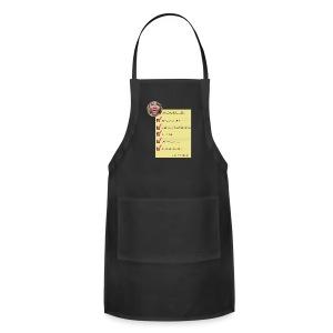 Daily Checklist Kitchen apron ts madison - Adjustable Apron