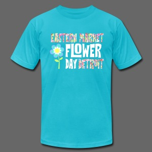 Eastern Market - Flower Day - Men's T-Shirt by American Apparel
