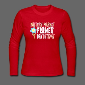 Eastern Market - Flower Day - Women's Long Sleeve Jersey T-Shirt