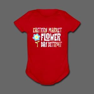 Eastern Market - Flower Day - Short Sleeve Baby Bodysuit